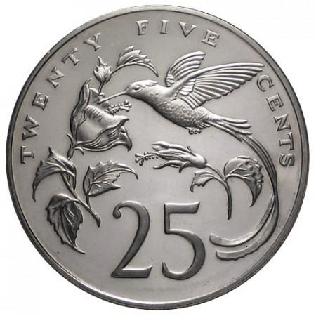 """1975 * 25 Cents Jamaïque """"Colibrì"""""""