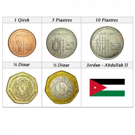 """Ans Divers * Série 5 Pièces Jordanie """"Abdullah II - Dinars"""" UNC"""