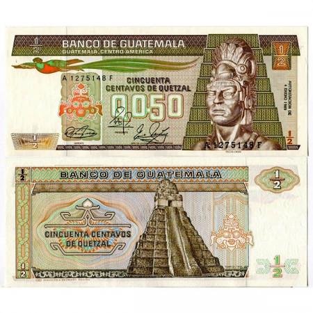 1989 * Billet Guatemala 1/2 Quetzal (p72a) NEUF