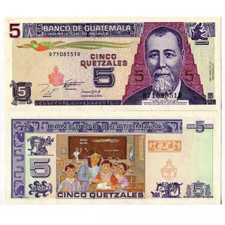 1993 * Billet Guatemala 5 Quetzales (p88a) NEUF
