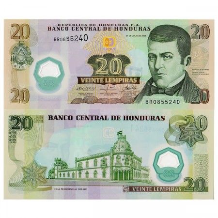 2008 * Billet Polymère Honduras 20 Lempiras (p95) NEUF