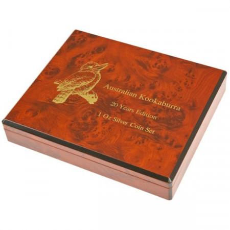 Coffret pour 40 monnaies argent Australian Kookaburra en capsules * Prestige