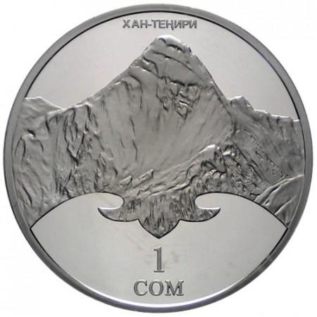 2011 * 1 som Kirghizistan Khan Tengri peak