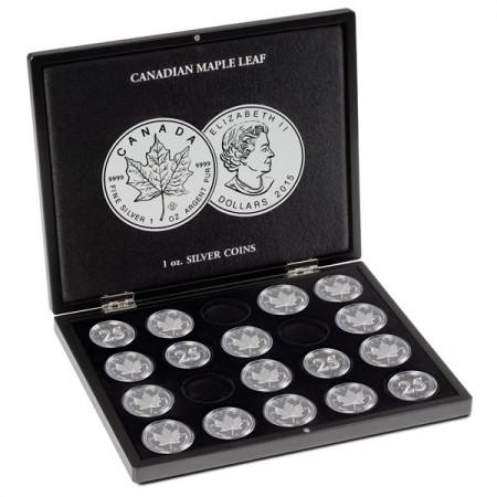 """Coffret 20 Monnaies Argent """"Maple Leaf"""" en Capsules * Leuchtturm"""
