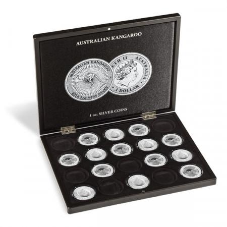 "Coffret 20 Monnaies Argent ""Australian Kangaroo"" en Capsules * Leuchtturm"
