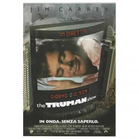 "1998 * Affiches De Cinéma ""The Truman Show - Jim Carrey"" Dramma/Fantasy"