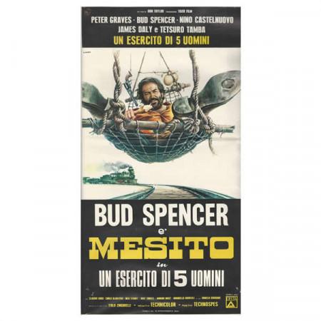 """1969 * Affiches De Cinéma """"Cinq Hommes Armés - Mesito, Bud Spencer"""" Western"""