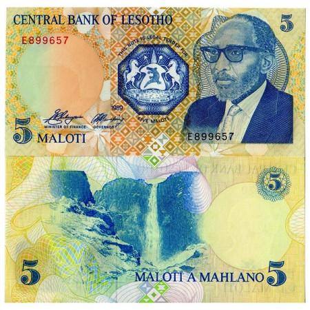 1989 * Billet Lesotho 5 Maloti (p10a) NEUF