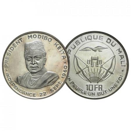 "1960 * 10 Francs Argent Mali ""Indépendance"" (KM 1) BE"