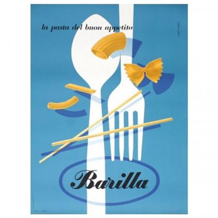 """1955 * Affiche Publicitaire Original """"Barilla: La Pasta Del Buon Appetito - Erberto Carboni"""""""