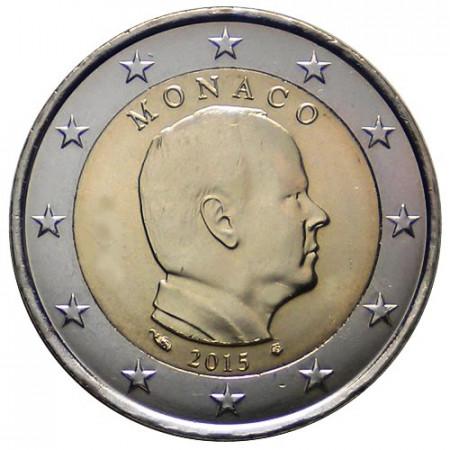"""2015 * 2 Euro MONACO """"Albert II"""" UNC"""