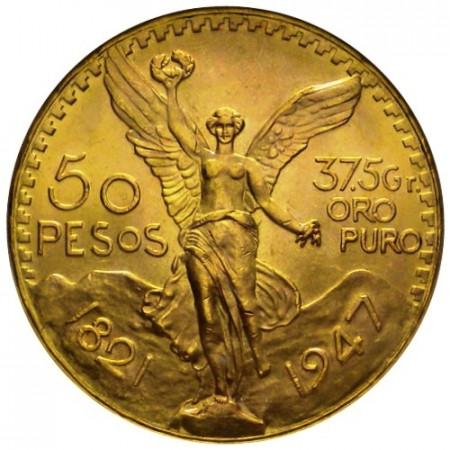 1947 * 50 pesos Mexique or Centenaire de l'Indépendance