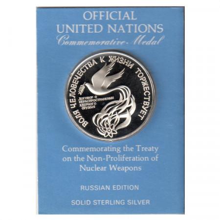 """1972 * Médaille Argent Nations Unies ONU """"Édition Russie"""" BE"""