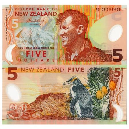 2006 * Billet Polymère Nouvelle-Zélande 5 Dollars (p185b) NEUF
