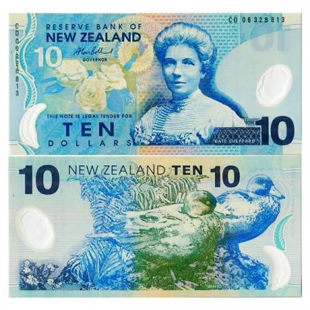 """ND (2006) * Billet Polymère Nouvelle-Zélande 10 Dollars """"K Sheppard"""" (p186b) NEUF"""