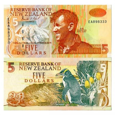 "ND (1992-97) * Billet Nouvelle-Zélande 5 Dollars ""Sir E Hillary"" (p177a) NEUF"