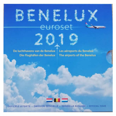 """2019 * BENELUX Coffret Officiel Euro """"Aéroports du Benelux"""" BU"""