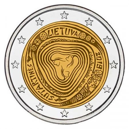 """2019 * 2 Euro LITUANIE """"Les Sutartinės, Chansons Polyphoniques Lituaniennes"""" UNC"""