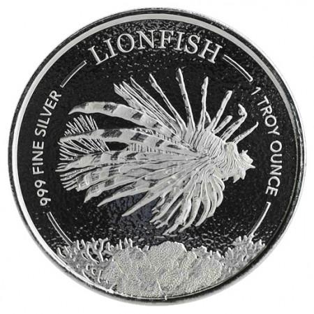 "2019 * 1 Dollar Argent 1 OZ Barbade ""Lionfish"" BU"