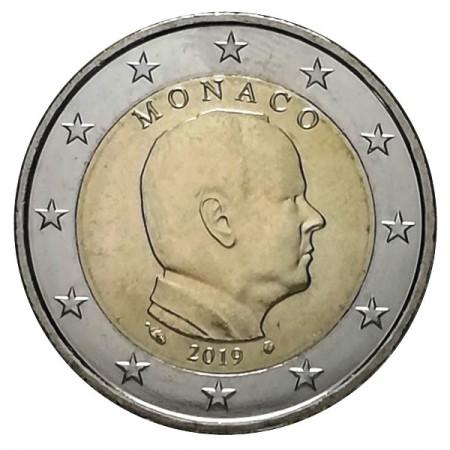 """2019 * 2 Euro MONACO """"Albert II"""" UNC"""