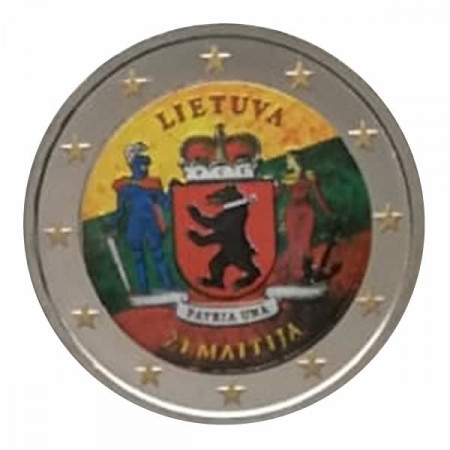 "2019 * 2 Euro LITUANIE ""Samogitie"" Coloré"