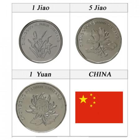"""2019 * Série 3 Monnaies Chine """"New Design"""" UNC"""
