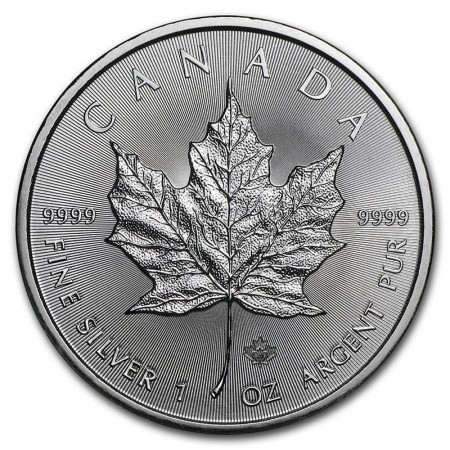 "2020 * 5 Dollars Argent 1 OZ Canada ""Feuille d'Érable - Maple Leaf"" BU"