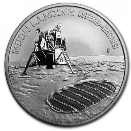 "2019 * 1 Dollar Argent 1 OZ Australie ""Anniversary of the Moon Landing"" BU"