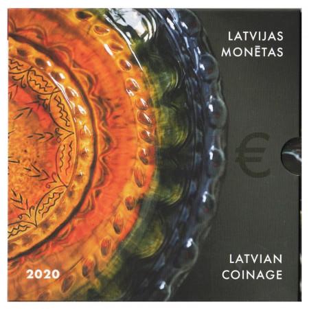 """2020 * LETTONIE Coffret Officiel Euro """"Poterie Traditionnelle"""" BU"""