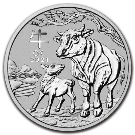 """2021 * 1 Dollar Argent 1 OZ Australie """"Lunar III - An du Buffle"""" BU"""
