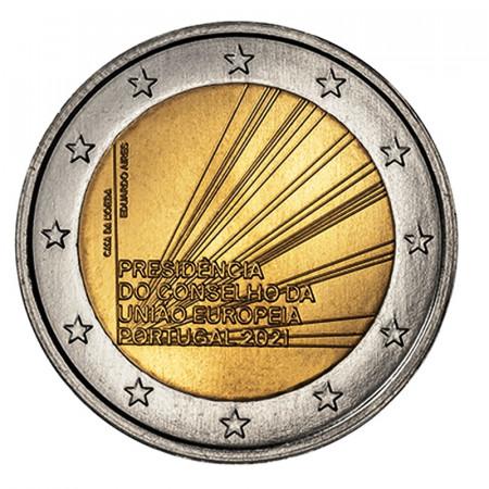 """2021 * 2 Euro PORTUGAL """"Présidence de l'Union Européenne"""" UNC"""