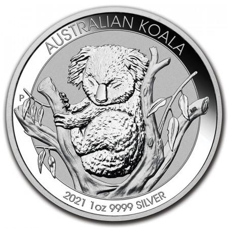 "2021 * 1 Dollar Argent 1 OZ Australie ""Koala"" BU"