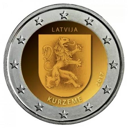 """2017 * 2 Euro LETTONIE """"Régions de Lettonie - Kurzeme"""" (2/4) UNC"""