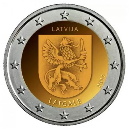 """2017 * 2 Euro LETTONIE """"Régions de Lettonie - Latgale"""" (3/4) UNC"""
