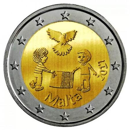 """2017 * 2 Euro MALTE """"Solidarité par la Paix - Version 1"""" (2/5) UNC"""