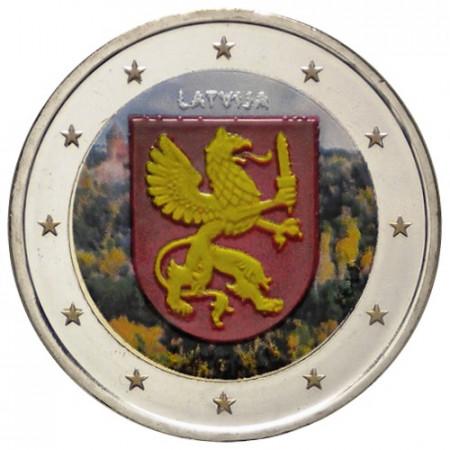 """2017 * 2 Euro LETTONIE """"Régions de Lettonie - Latgale"""" (3/4) Coloré"""