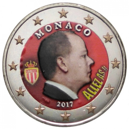 "2017 * 2 Euro MONACO ""Albert II"" Coloré"