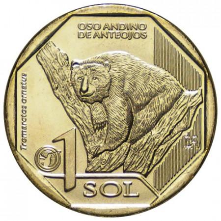 """2017 * 1 Sol Pérou """"Spectacled Bear"""" UNC"""