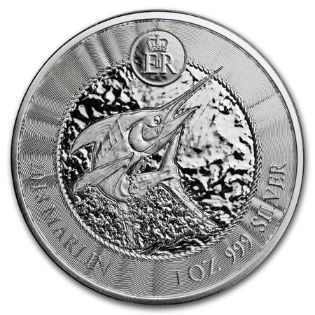"2018 * 1 Dollar Argent 1 OZ Îles Caïmans ""Blue Marlin"" BU"