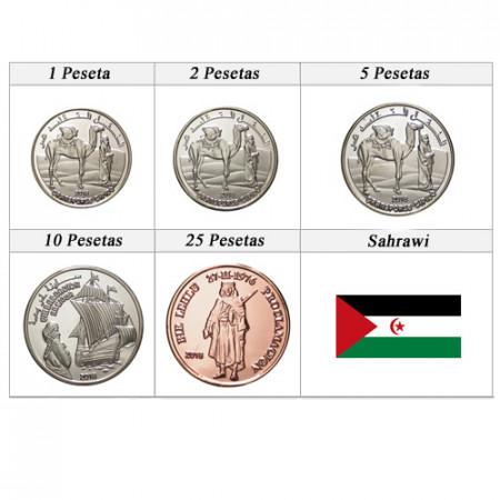 "2018 * Série 5 Monnaies Sahrawi ""Pesetas"" UNC"