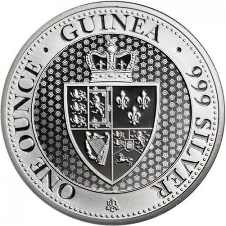 "2018 * 1 Pound Argent 1 OZ Saint Helena ""Spade Guinea Shield"" BU"