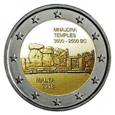 """2018 * 2 Euro MALTE """"Temples Mégalithiques de Mnajdra"""" UNC"""