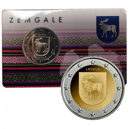 """2018 * 2 Euro LETTONIE """"Régions de Lettonie - Zemgale"""" (4/4) Coincard"""