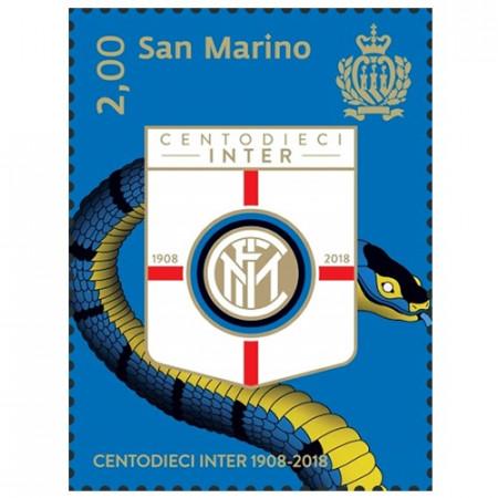 "2018 * Timbre Saint Marin 2,00 Euro ""Centodieci Inter 1908-2018"""