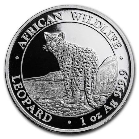 "2018 * 100 Shillings Argent 1 OZ Somalie ""Leopard"" BU"