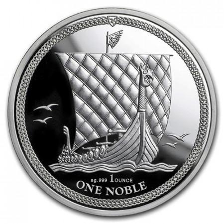 """2018 * 1 Noble Argent 1 OZ Île de Man """"Viking Heritage"""" BU"""