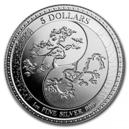 """2018 * 5 Dollars Argent 1 OZ Tokelau """"Equilibrium"""" BU"""