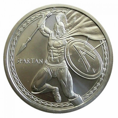 """ND (2019) * Troy Ounce  1 OZ Once Argent """"Warriors Series – Spartan"""" BU"""