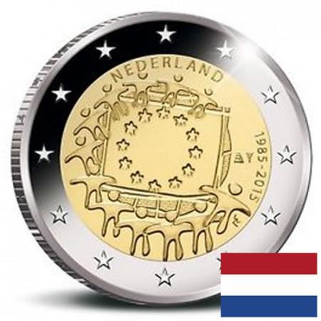 """2015 * 2 Euro PAYS-BAS """"30e Anniversaire du Drapeau Européen"""""""