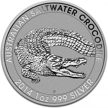 2014 * Dollar en argent 1 OZ Australie Saltwater Crocodile - Perth Mint